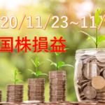 11/23~11/27の米国株損益